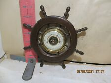 SHIP'S WHEEL BAROMETER - MADE IN WESTERN GERMANY - WORKS , NO DAMAGE!