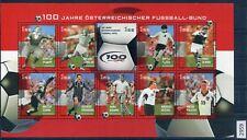 Österreich Mi-Nr 2460-2469 Kleinbogen 100 Jahre Öst. Fussball gestempelt (2959)