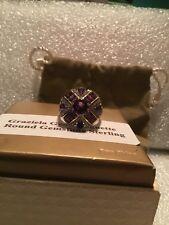 Amethyst Sterling Silver Ring Size 10 Mint Graziela Gems Baguette & Round