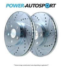 (FRONT) POWER PERFORMANCE DRILLED SLOTTED BRAKE DISC ROTORS (w/BREMBO) P53029