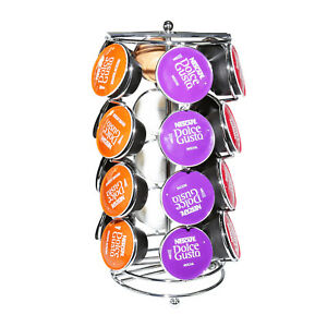 24 Retro 6 Sided Coffee Capsule Pod Rotating Holder Rack Stand For Dolce Gusto