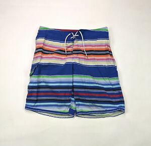 Polo Ralph Lauren Cargo Board Shorts Mens Size 34 Multi Colored Stripe