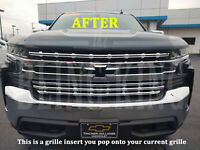 2019-2021 Chevy Silverado 1500 chrome grille insert grill overlay LT RST