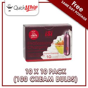 100 Cream chargers - iSi PROFESSIONAL (10 x 10Pks) 8.4g Nitrous Oxide N2O