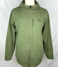 SITKA GEAR Mens 2XL Khaki Green Poly Wool L/S Full Zip Fleece Camp Hoody Jacket