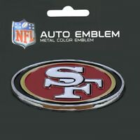 San Francisco 49ers Heavy Duty Metal 3-D Color Auto Emblem