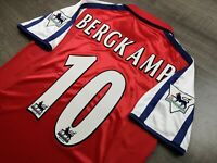 [Retro] - Arsenal Home 2000/02 with 10 BERGKAMP and Patches Size S