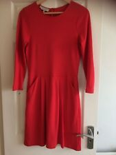 Hobbs Little Red Jersey Dress With Pockets - Fab Condition - UK Size 12