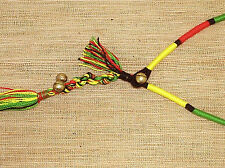 "RASTA REGGAE MENS BOYS WOMENS GIRLS LARIAT NECKLACE ONE SIZE 16""  N0214"