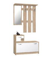 RUDOLF - Guardaroba con specchio, 3 ganci appendiabito e scarpiera, 100x180x25cm