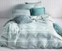 KAS Balmoral Sage Linen/Cotton Quilt Cover Set