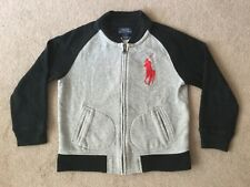 RALPH LAUREN ZIPPED JACKET SIZE 'SMALL BOYS AGE 6' GREY/BLACK NO RESERVE