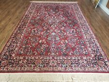 "5' 9"" X 9' KARASTAN #700 Red Sarouk  # 785 Wool RUG  Beauty"