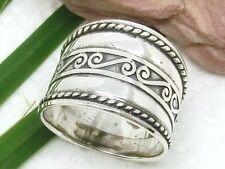 Breiter Silber Ring 925 mit Spiralen Silberring Spirale