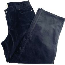 LL Bean Womens Black Velour Cotton Blend 5 Pocket Pants Size 18 Reg