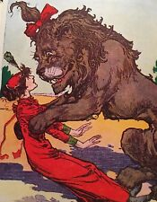 Antique Wizard Of Oz Book 1939 Dorothy Toto And Hungry Tiger VG