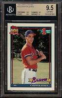 Rare 1991 Topps Tiffany #333 Chipper Jones Rookie RC BGS 9.5 Gem Mint - 2018 HOF