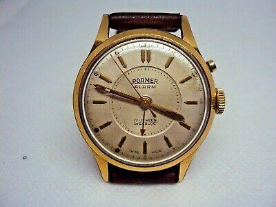 Vintage Men's watch Roamer Alarm Swiss Made 1950's