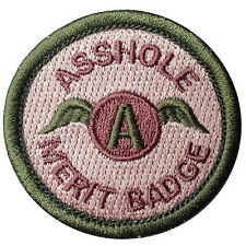 Ass Hole Merit Morale Badge U.S. Army Usa Tactical Patches Hook Loop Patch ^02