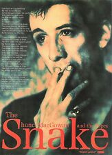 SHANE MacGOWAN (Pogues) Snake UK magazine ADVERT / Poster 11x8 inches