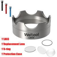 Weltool 304 Stainless Steel Strike Bezel Lens For Maglite C / D Cell Flashlight