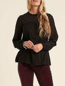 EX FatFace Black Charlotte Spotted Top Sizes 12, 14, 16, 18 RRP £32.50