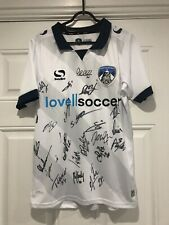 2018-19 Squad Signed Oldham Athletic Home Shirt - Small