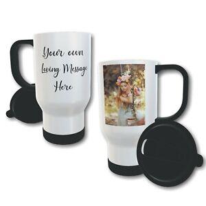 Personalised Photo Text 14oz Thermal Travel Mug