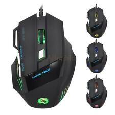 Lot 50 Pcs iAdjustable DPI 7 Button LED Optical Wired Gaming Mouse for Pro Gamer