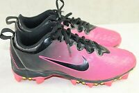 NIKE girls cleats athletic shoes size 6 youth pink and black great condition