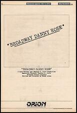BROADWAY DANNY ROSE__Original 1982 Trade Print AD promo / poster__WOODY ALLEN