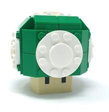 Lego Nintendo Super Mario Magic Mushroom 1 UP Custom Moc Green
