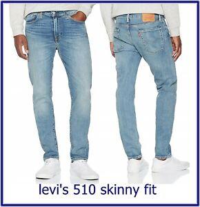 levis 510 jeans uomo skinny denim levi's elasticizzati W 29 30 31 32 33 34 36 38