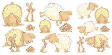 BUNNY SHEEP FURRY FRIENDS NURSERY CHILDRENS KIDS FLUFFY STICKERS QUICKSTICKS