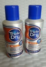 Triple Dry men's 72hr Active  spray 150ml.2 cans.FREE POSTAGE