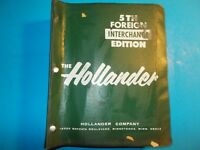 1980 HOLLANDER 5TH EDITION FOREIGN CAR PARTS INTERCHANGE MANUAL 1963-1980