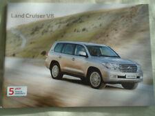 Toyota Land Cruiser V8 range brochure Apr 2011