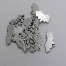 24pcs Antique silver plated poker card charm pendant T0313