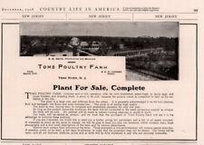 1908 AD TOMS POULTRY FARM PLANT FOR SALE PHOTO TOMS RIVER