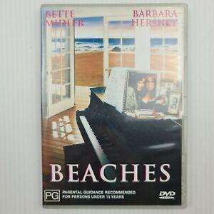 Beaches DVD - Bette Midler - Barbara Hershey - Region 4 - FREE TRACKED POSTAGE