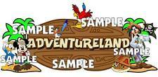 Disney World Magic Kingdom Adventureland Sign Scrapbook Embellishment Piece