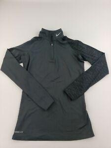 Women's Nike 1/4 Zip Dri-Fit Pro Fit Combat Compression Shirt Size Medium