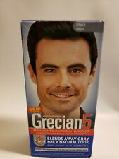 Just For Men Grecian5 Permanent Shampoo-In Hair Color Black Gray Coverage 5 mins