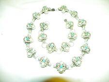 vintage Mexico Silver 800 antique Necklace Choker & Bracelet  80 grams