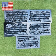 Set 5 pcs ABS Plastic Molds for Concrete Plaster wall stone tiles CONCRETE MOULD