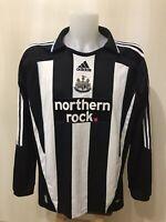 Newcastle United 2007/2008/2009 Home XL Adidas football shirt jersey soccer L/S