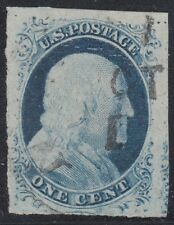 USA Scott #9 1ct Used Doporto Cert Position 1L1L XF GEM CV $110