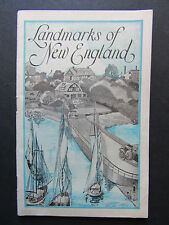 1929 Landmarks of New England Booklet Lydia Pinkman's Remedies Advertisements