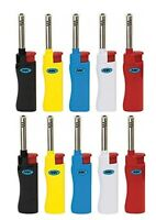 MK JET Colorful CANDLE TORCH 10 Ct Full Size Lighters Refillable Windproof BBQ