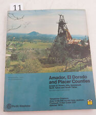 Amador El Dorado Placer Pac Tel 1974 Directory Phone Book (D3L-11) Yellow Pages